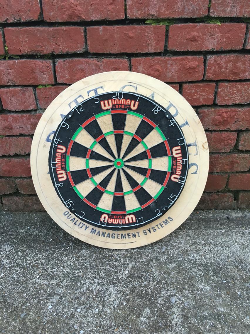 cable reel dart backboard