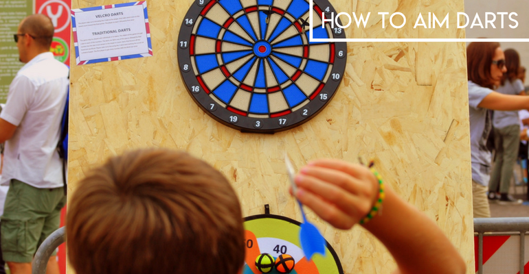 how to aim darts