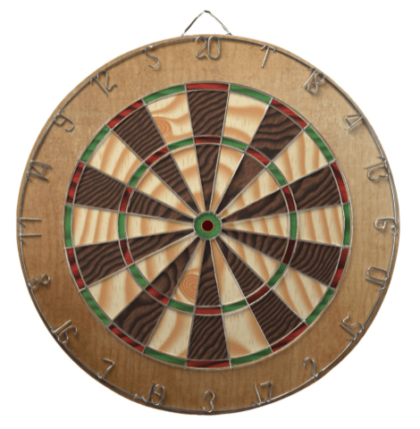 wooden dartboard