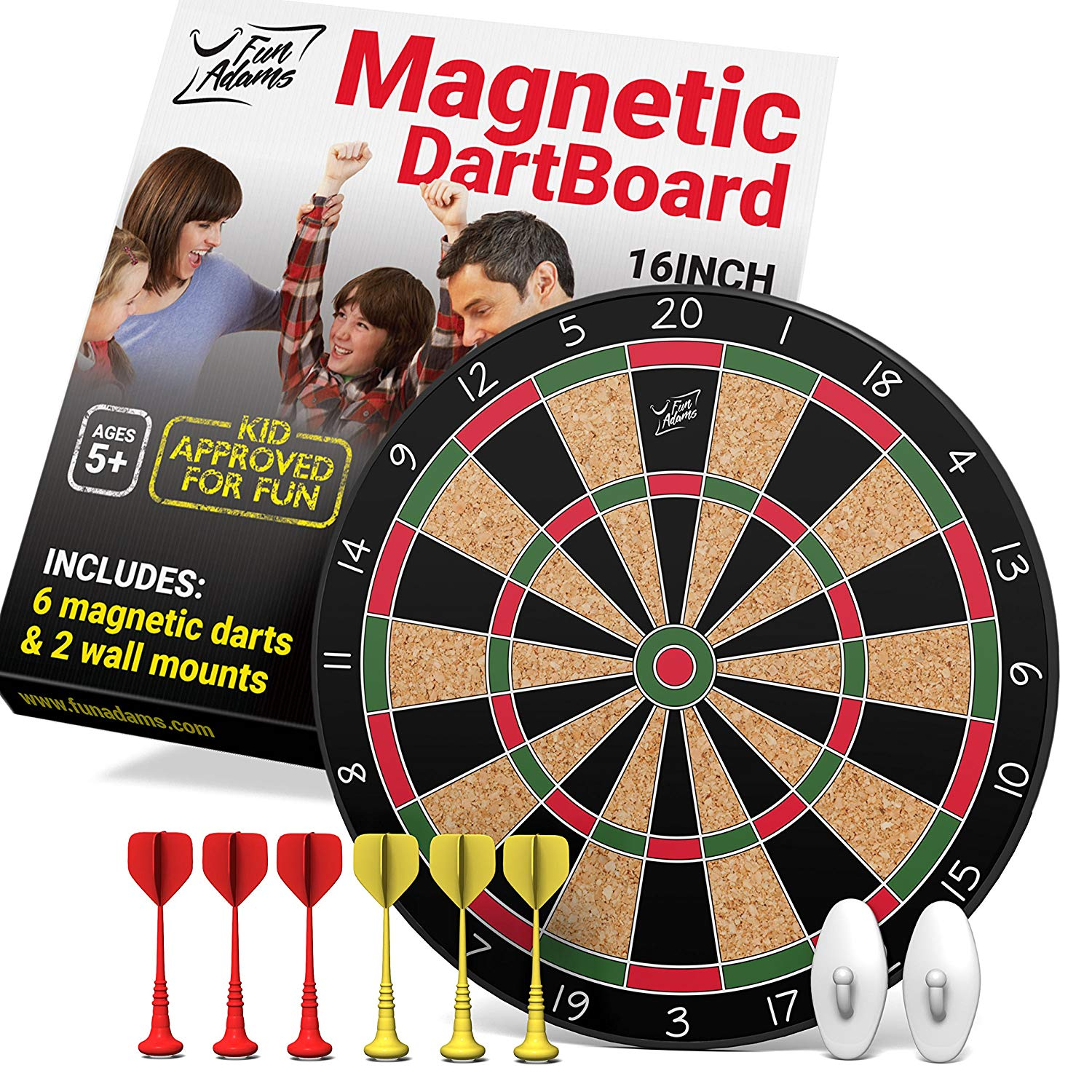 Fun Adams Magnetic Dart Board