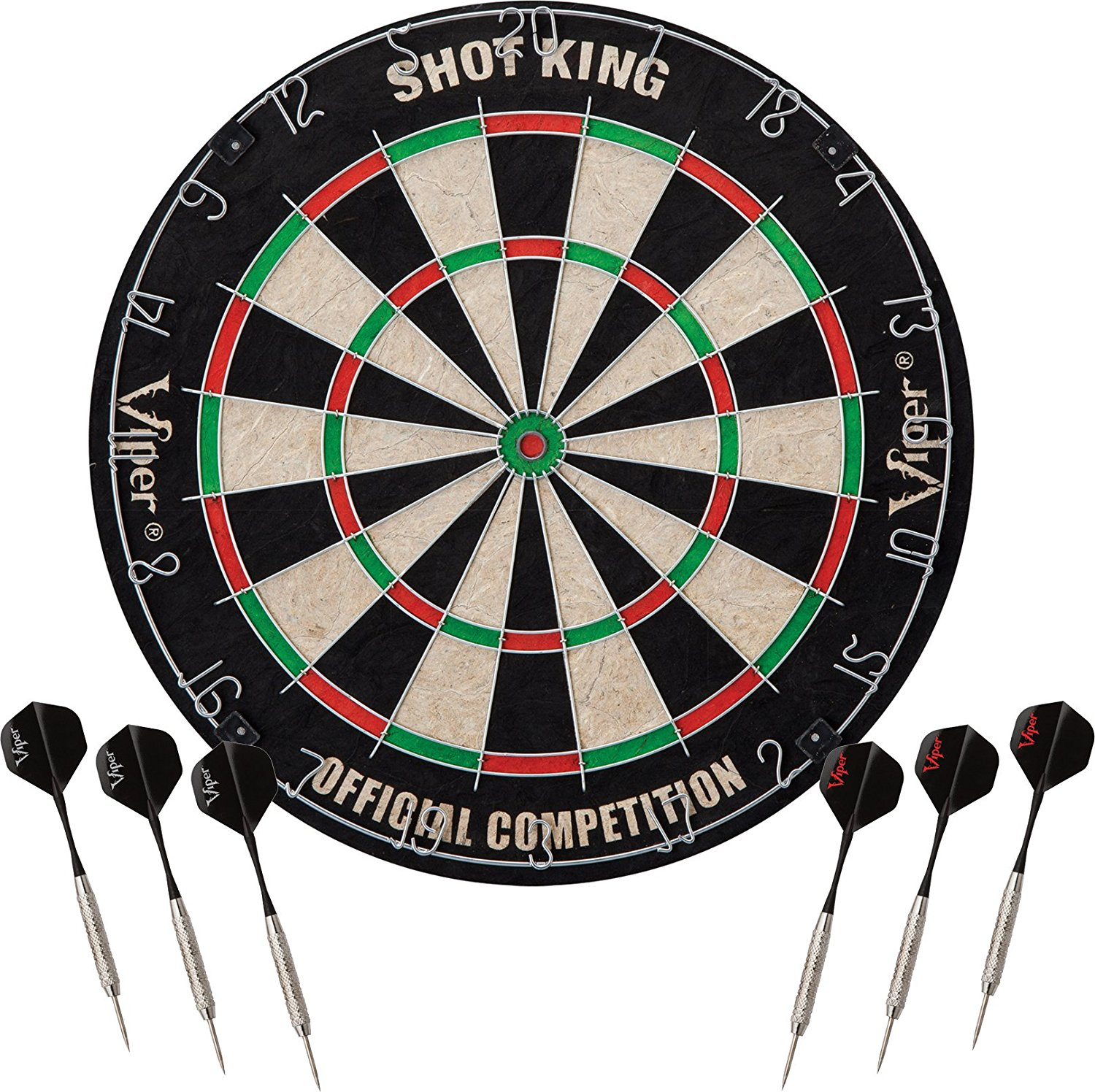 Viper Shot King Sisal Bristle Steel Tip Dartboard