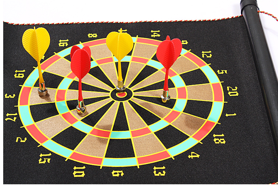 magnetic darts on soft dartboard