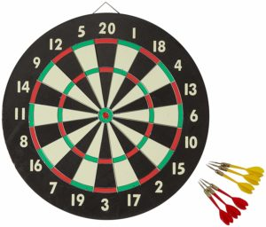 Accudart 2-in-1 Starlite Quality-Bound Paper Dartboard Game Set