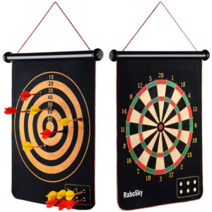 Magnetic Dart Board with 12pcs Dart Flights for Kids and Adults