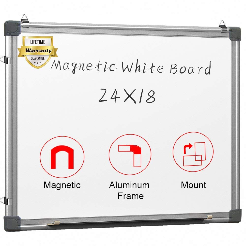 Magnetic White Board 24 x 18 Dry Erase Board