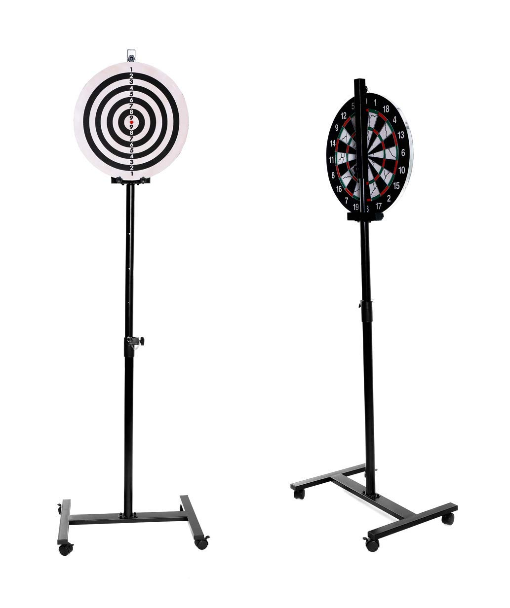 SPRAWL Dart Game Set-Dartboard Stand-One 18 Dart Board-6 Steel Tip Darts-Indoor Outdoor Game