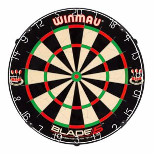 Winmau Blade 5 Bristle Dartboard with All-New Thinner Wiring